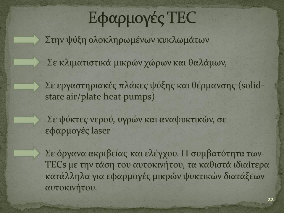 Εφαρμογές TEC Στην ψύξη ολοκληρωμένων κυκλωμάτων