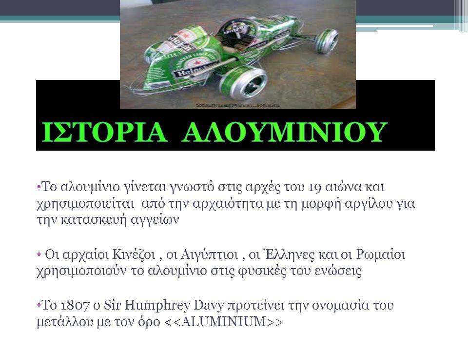 ΙΣΤΟΡΙΑ ΑΛΟΥΜΙΝΙΟΥ