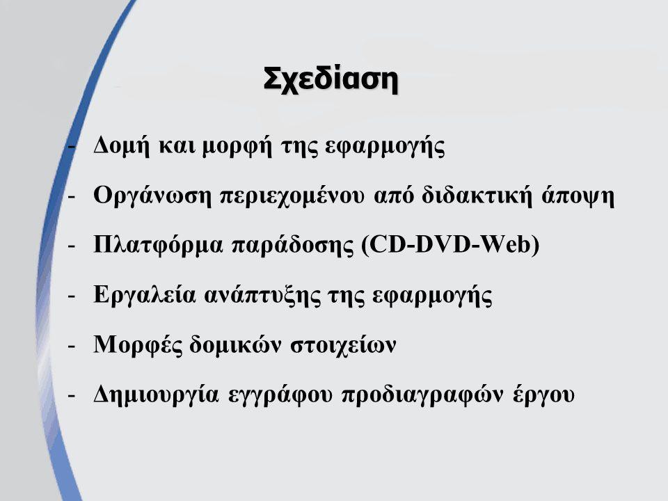 Σχεδίαση Δομή και μορφή της εφαρμογής