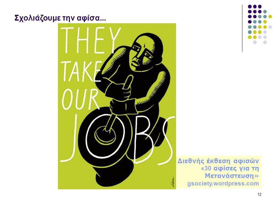 Σχολιάζουμε την αφίσα... Διεθνής έκθεση αφισών