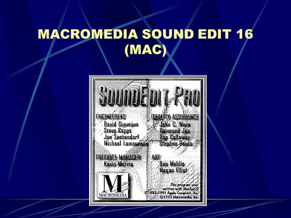 MACROMEDIA SOUND EDIT 16 (MAC)