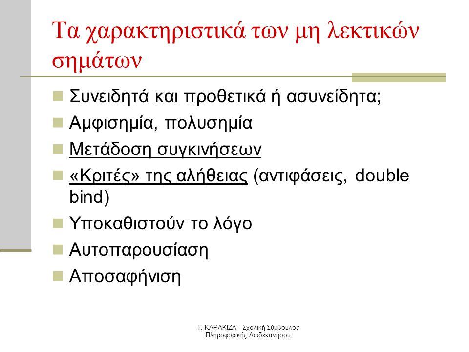 Τα χαρακτηριστικά των μη λεκτικών σημάτων