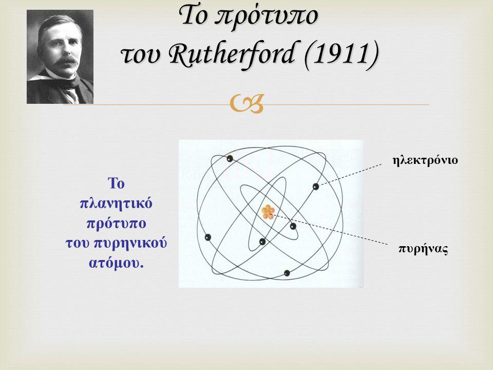 Το πρότυπο του Rutherford (1911)