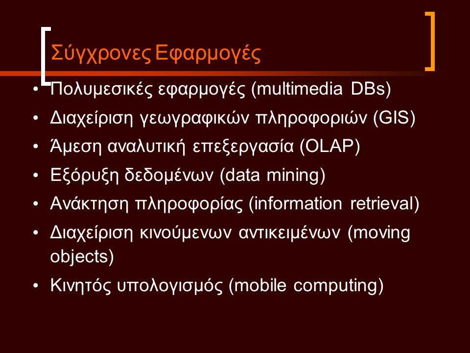 Σύγχρονες Εφαρμογές Πολυμεσικές εφαρμογές (multimedia DBs)