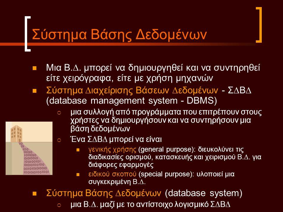 Σύστημα Βάσης Δεδομένων