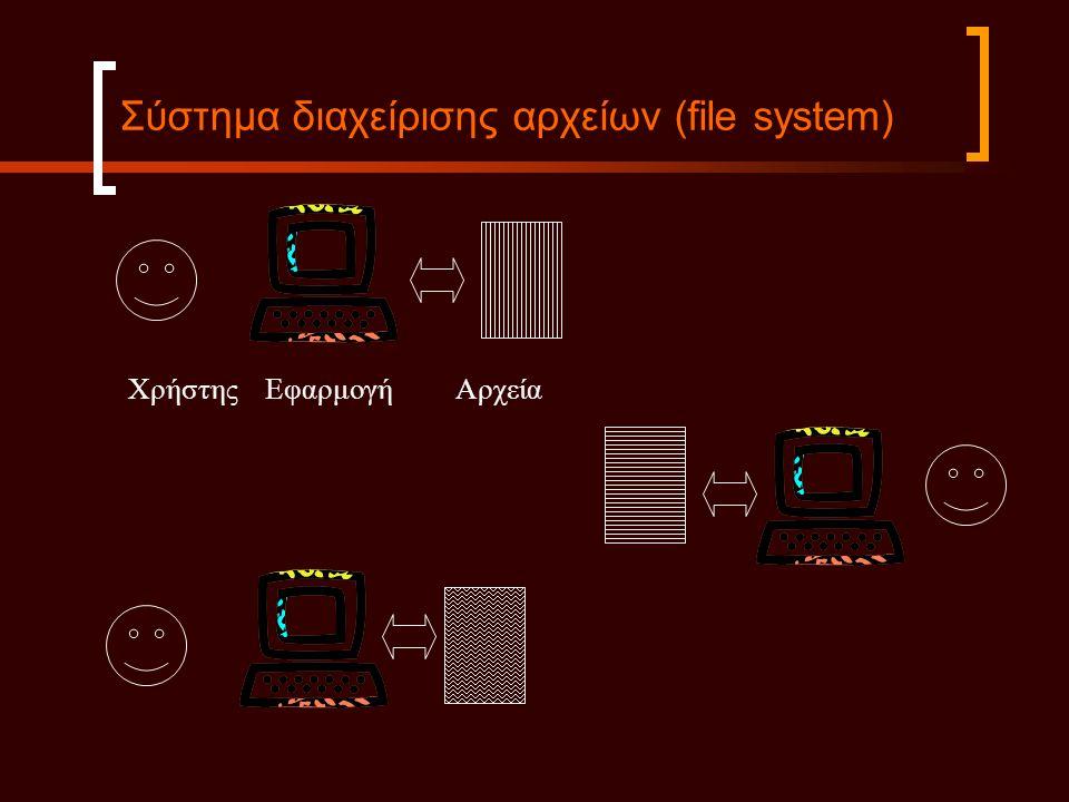 Σύστημα διαχείρισης αρχείων (file system)