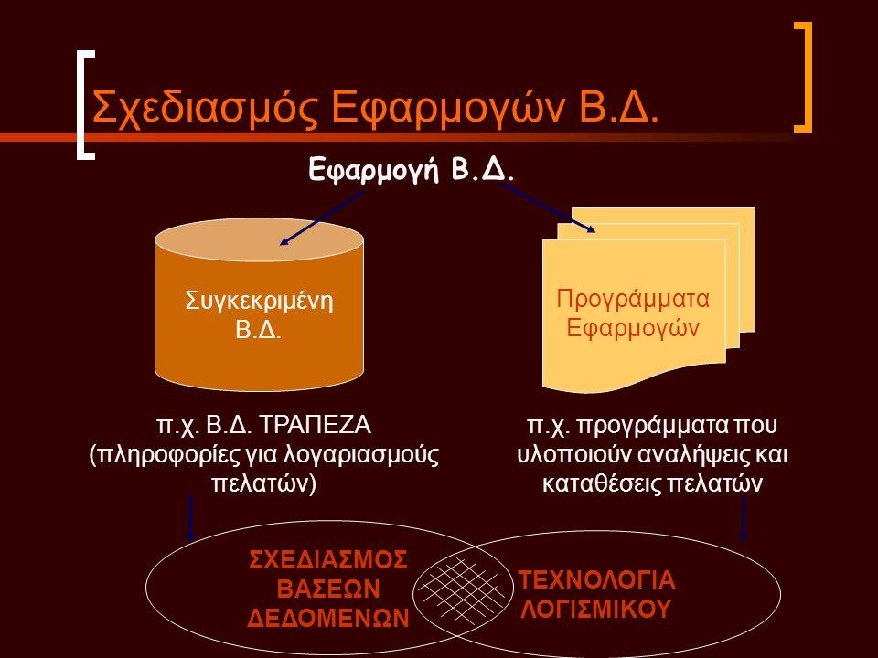 Σχεδιασμός Εφαρμογών Β.Δ.