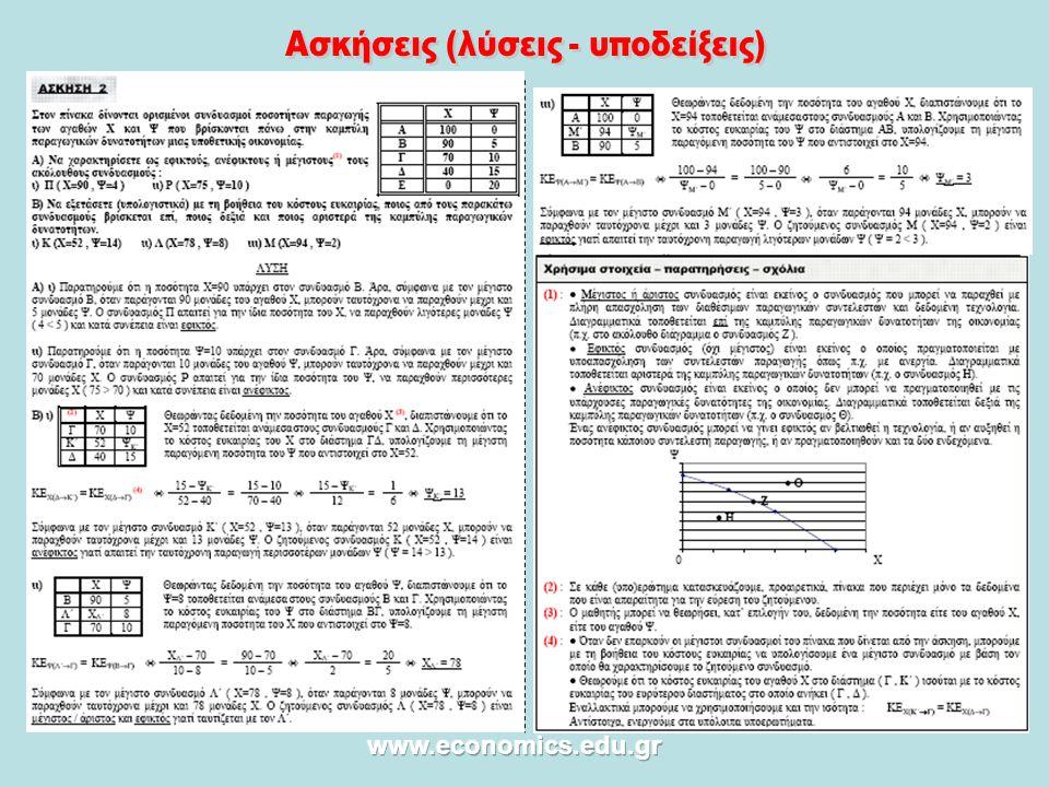 Ασκήσεις (λύσεις - υποδείξεις)