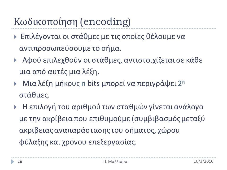 Κωδικοποίηση (encoding)
