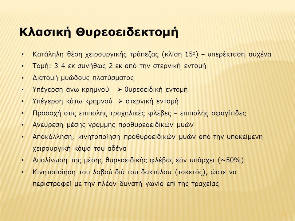Κλασική Θυρεοειδεκτομή