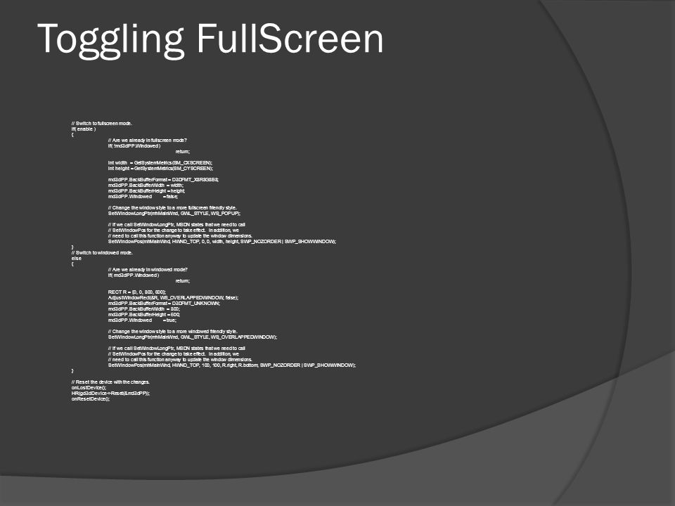Toggling FullScreen 4/3/2017 9:57 AM
