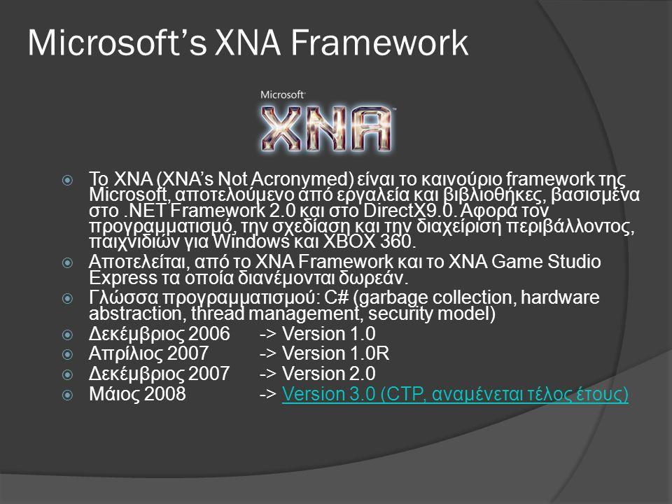 Microsoft's XNA Framework