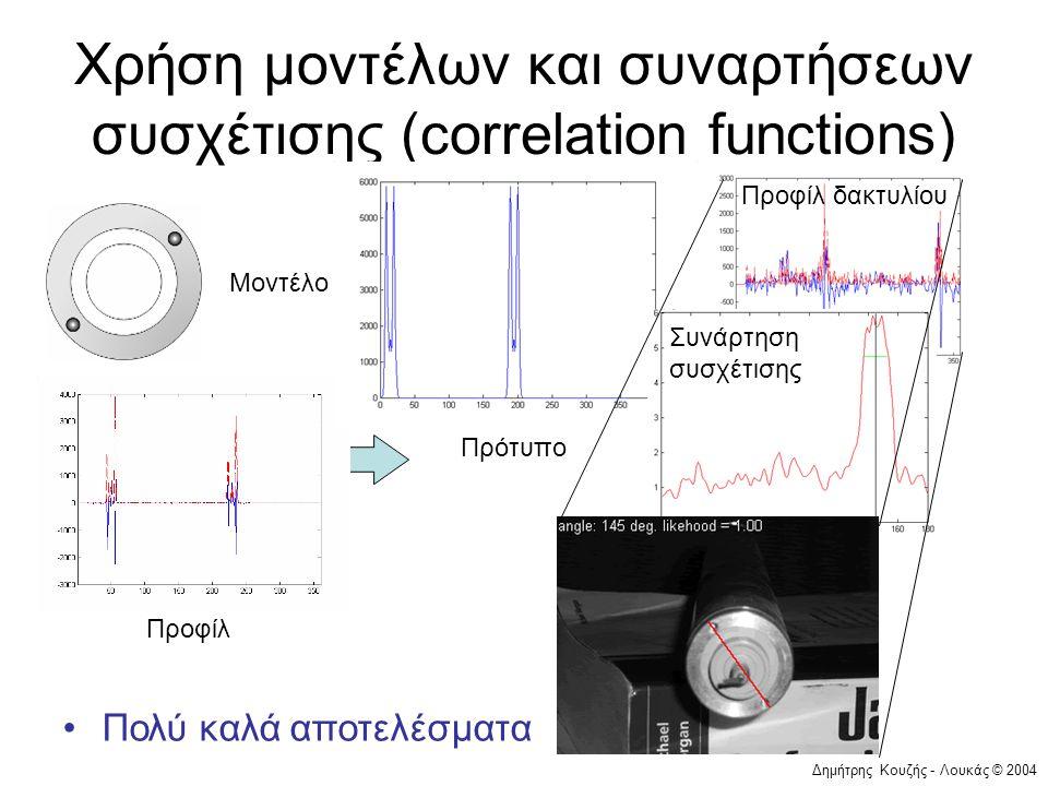 Χρήση μοντέλων και συναρτήσεων συσχέτισης (correlation functions)