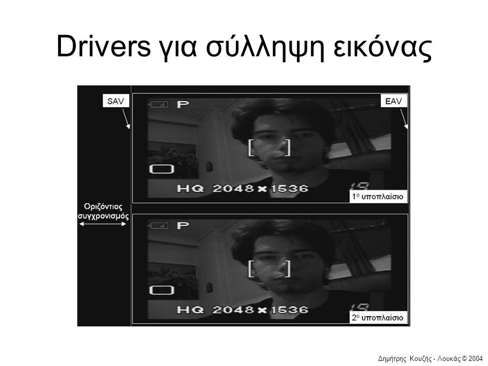 Drivers για σύλληψη εικόνας