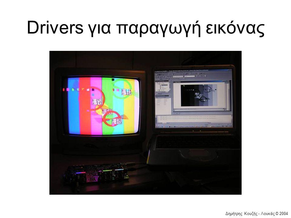 Drivers για παραγωγή εικόνας