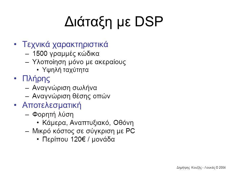 Διάταξη με DSP Τεχνικά χαρακτηριστικά Πλήρης Αποτελεσματική