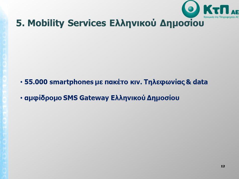 5. Mobility Services Ελληνικού Δημοσίου