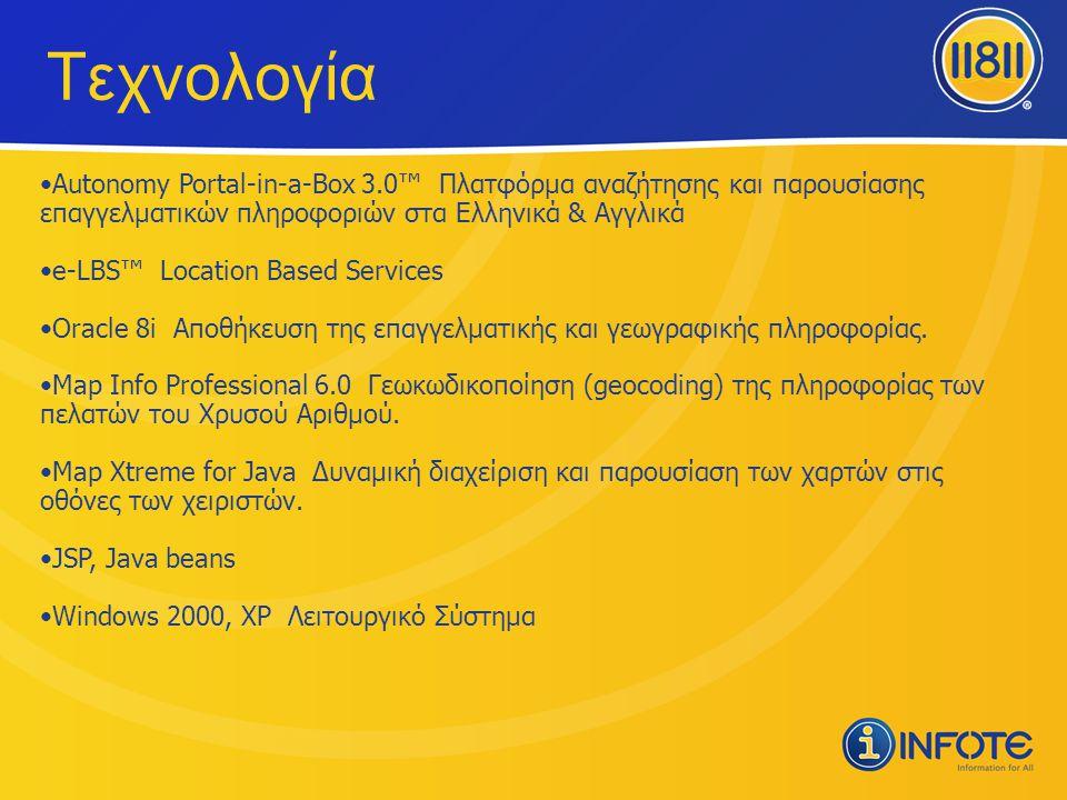 Τεχνολογία Autonomy Portal-in-a-Box 3.0™ Πλατφόρμα αναζήτησης και παρουσίασης επαγγελματικών πληροφοριών στα Ελληνικά & Αγγλικά.
