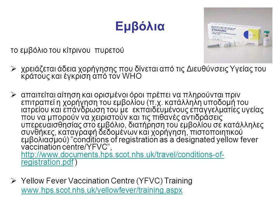 Εμβόλια τo εμβόλιο του κίτρινου πυρετού