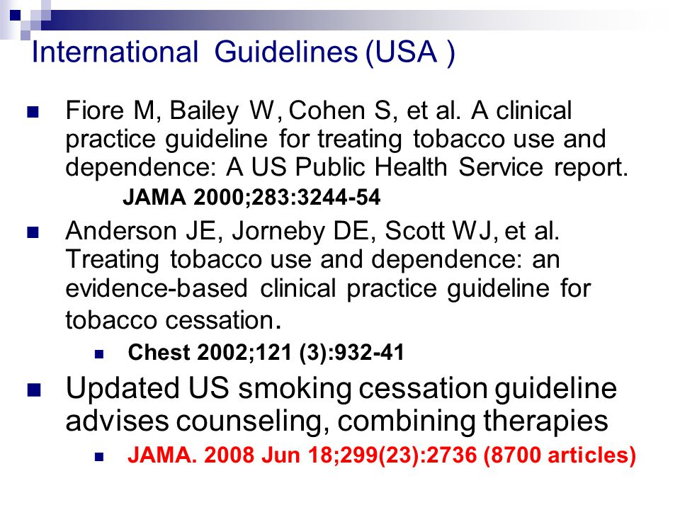 International Guidelines (USA )