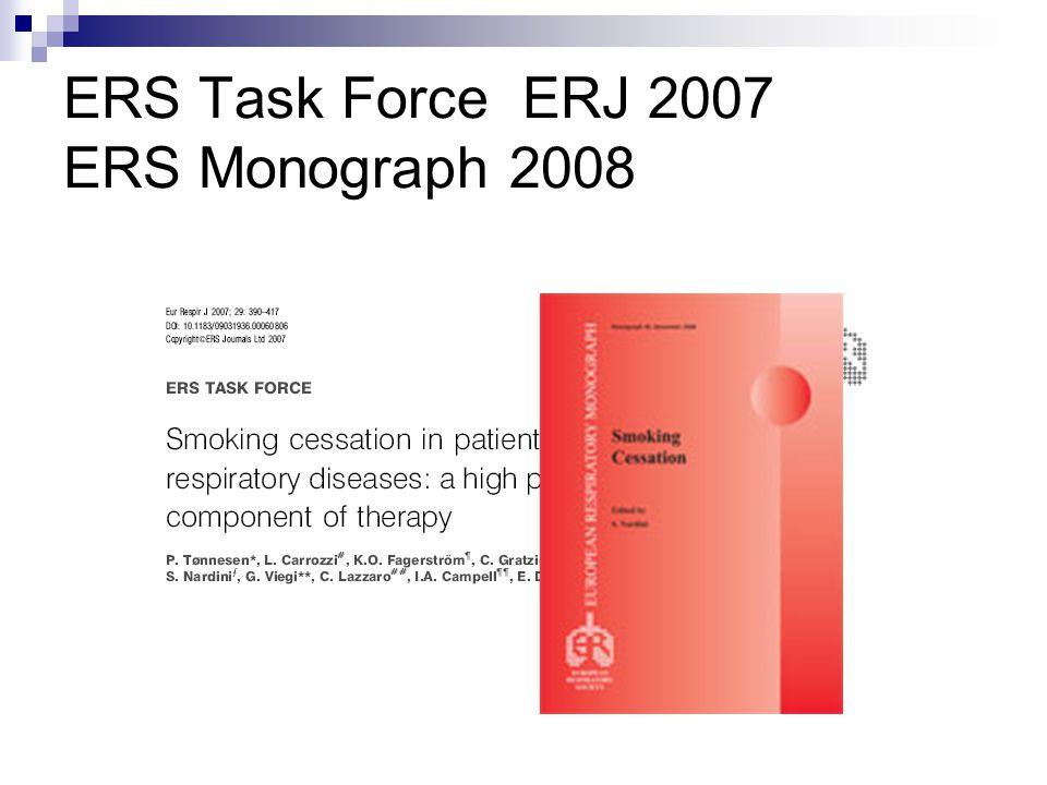 ERS Task Force ERJ 2007 ERS Monograph 2008