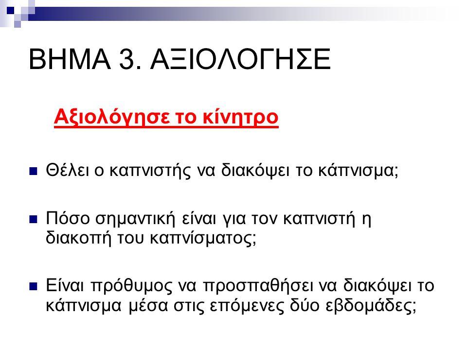 ΒΗΜΑ 3. ΑΞΙΟΛΟΓΗΣΕ Αξιολόγησε το κίνητρο