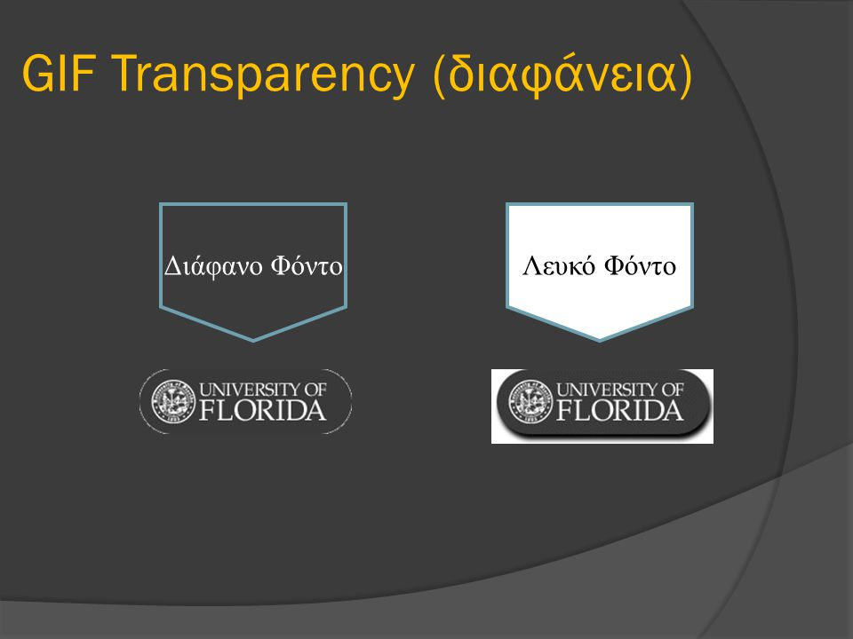 GIF Transparency (διαφάνεια)