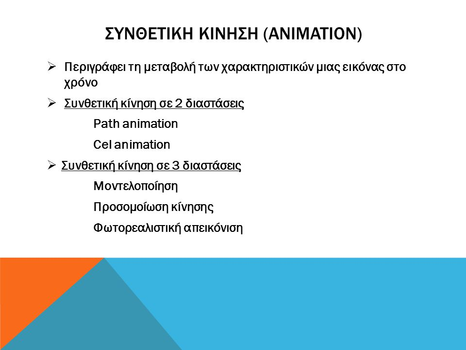 Συνθετικη κινηση (animation)