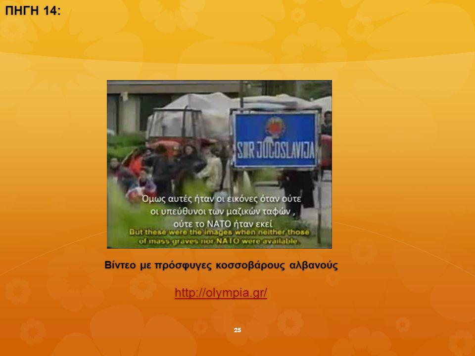 ΠΗΓΗ 14: Βίντεο με πρόσφυγες κοσσοβάρους αλβανούς http://olympia.gr/