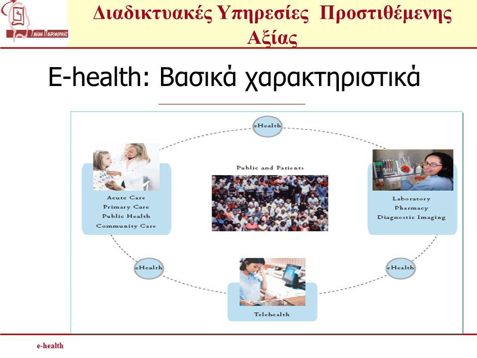 E-health: Βασικά χαρακτηριστικά