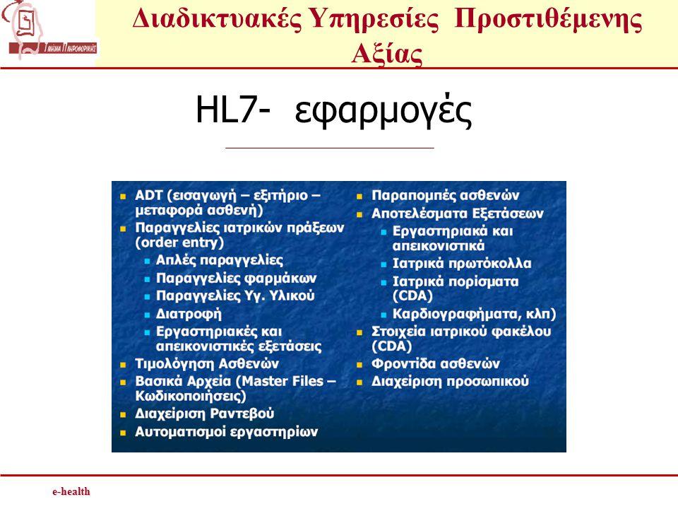 HL7- εφαρμογές