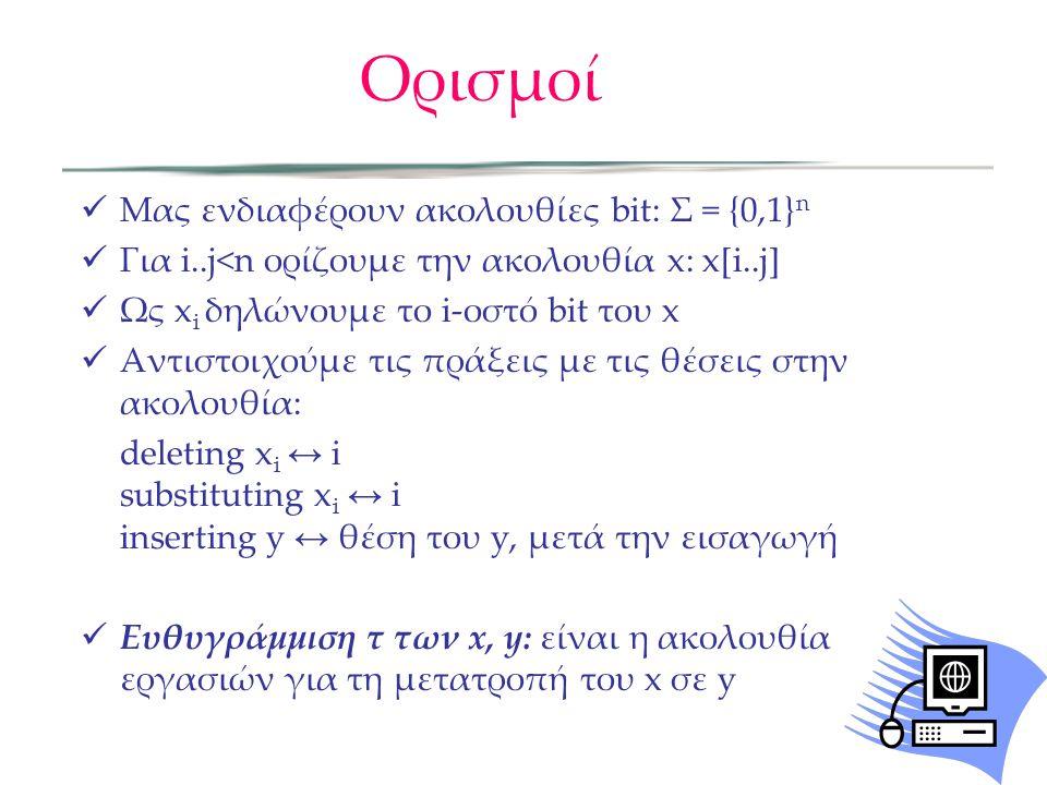 Ορισμοί Μας ενδιαφέρουν ακολουθίες bit: Σ = {0,1}n