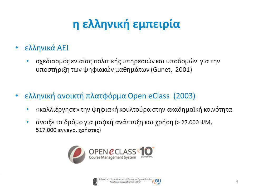 η ελληνική εμπειρία ελληνικά AEI