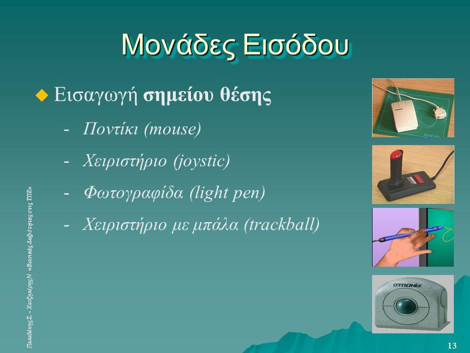 Μονάδες Εισόδου Εισαγωγή σημείου θέσης Ποντίκι (mouse)