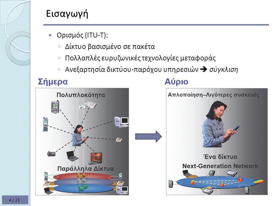 Εισαγωγή Ορισμός (ITU-T): Δίκτυο βασισμένο σε πακέτα