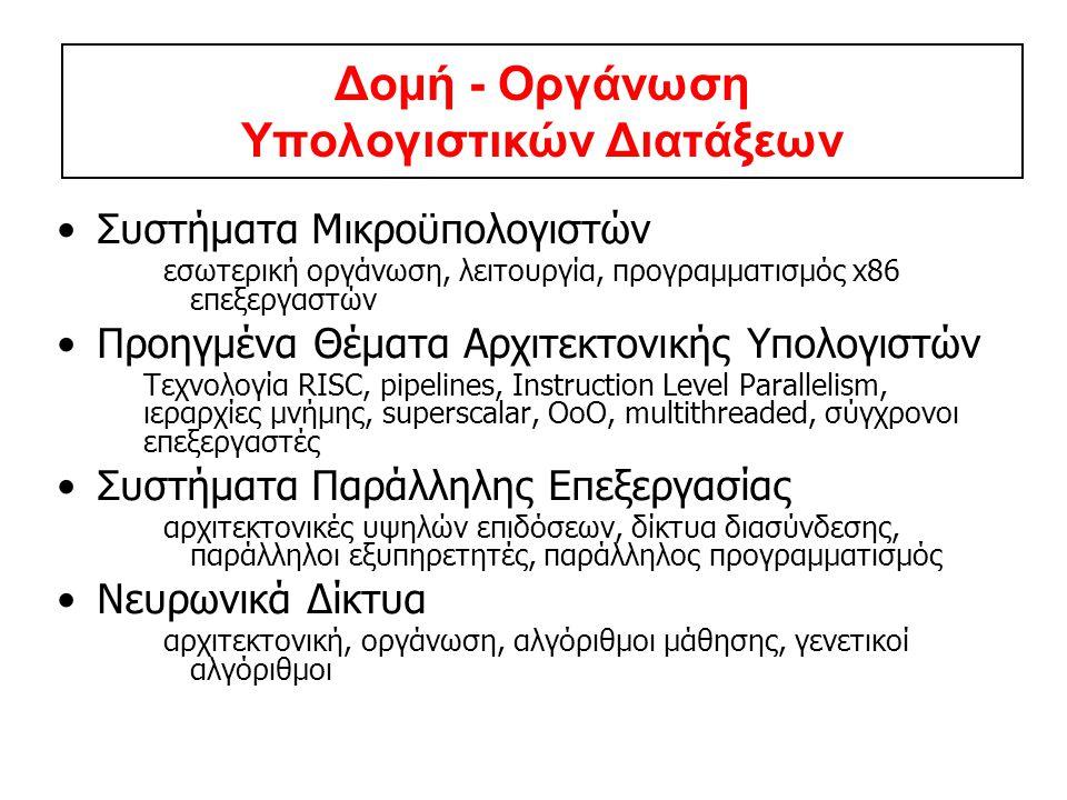 Δομή - Οργάνωση Υπολογιστικών Διατάξεων