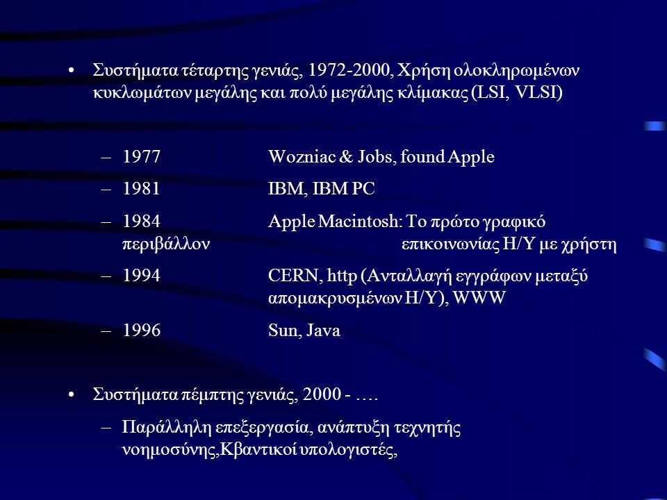 Συστήματα τέταρτης γενιάς, 1972-2000, Χρήση ολοκληρωμένων κυκλωμάτων μεγάλης και πολύ μεγάλης κλίμακας (LSI, VLSI)