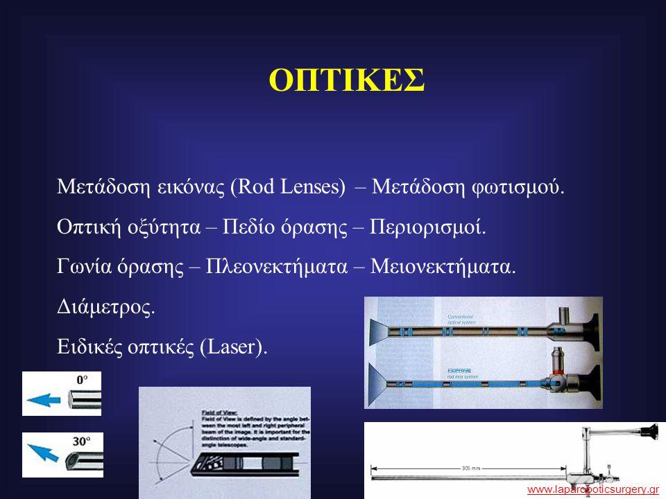 ΟΠΤΙΚΕΣ Μετάδοση εικόνας (Rod Lenses) – Μετάδοση φωτισμού.