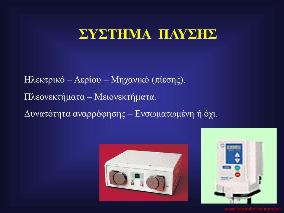 ΣΥΣΤΗΜΑ ΠΛΥΣΗΣ Ηλεκτρικό – Αερίου – Μηχανικό (πίεσης).
