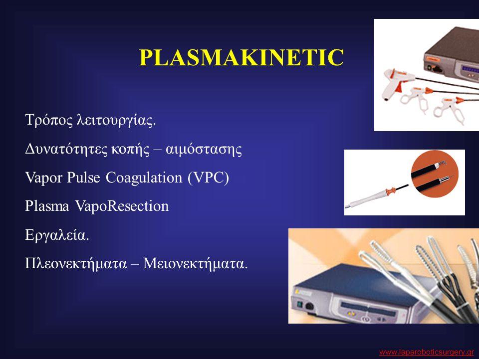 PLASMAKINETIC Τρόπος λειτουργίας. Δυνατότητες κοπής – αιμόστασης