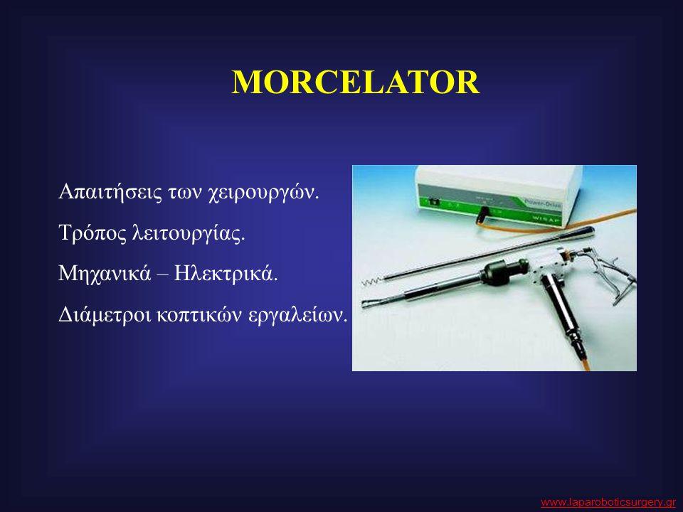 MORCELATOR Απαιτήσεις των χειρουργών. Τρόπος λειτουργίας.