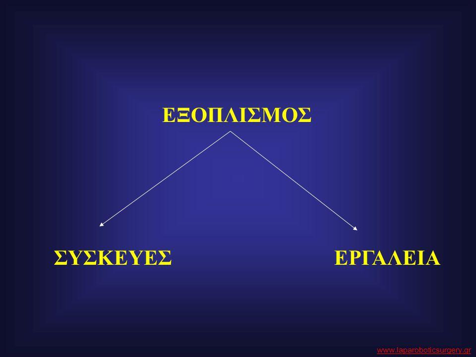 ΕΞΟΠΛΙΣΜΟΣ ΣΥΣΚΕΥΕΣ ΕΡΓΑΛΕΙΑ www.laparoboticsurgery.gr