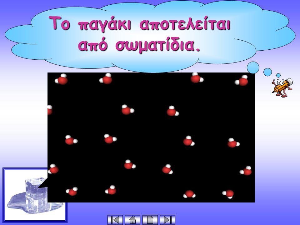 Το παγάκι αποτελείται από σωματίδια.