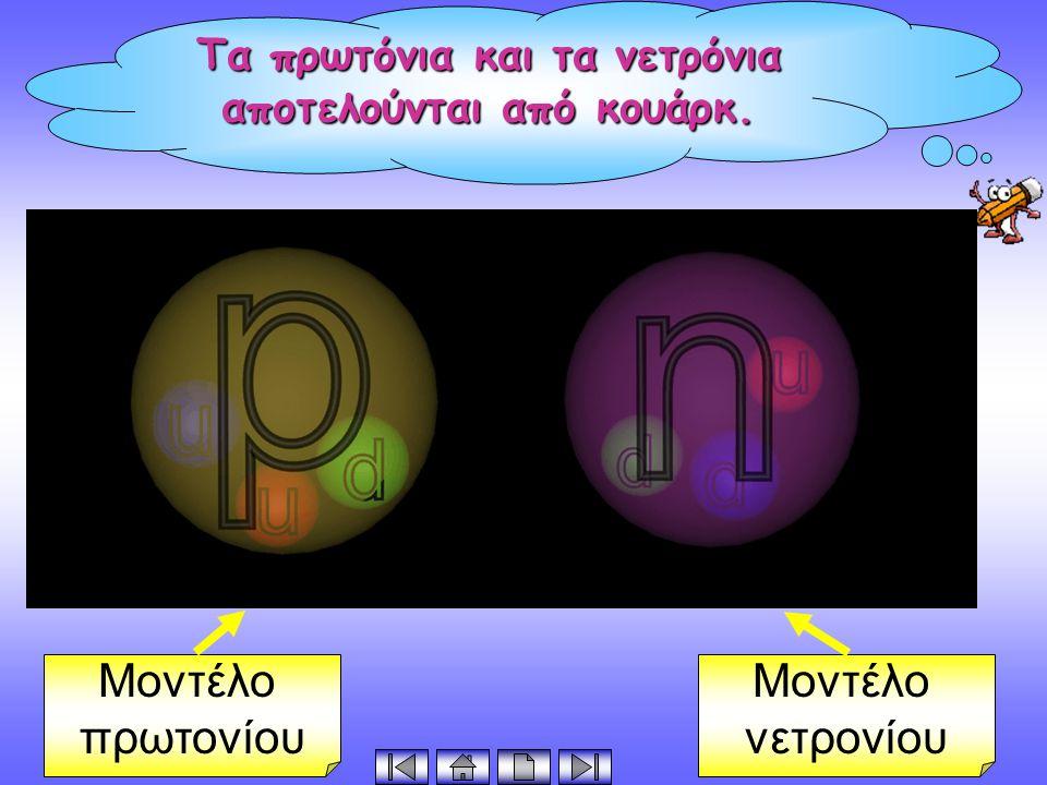 Τα πρωτόνια και τα νετρόνια αποτελούνται από κουάρκ.