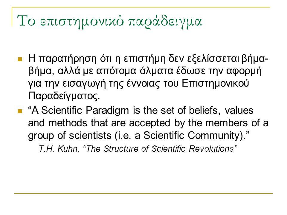 Το επιστημονικό παράδειγμα