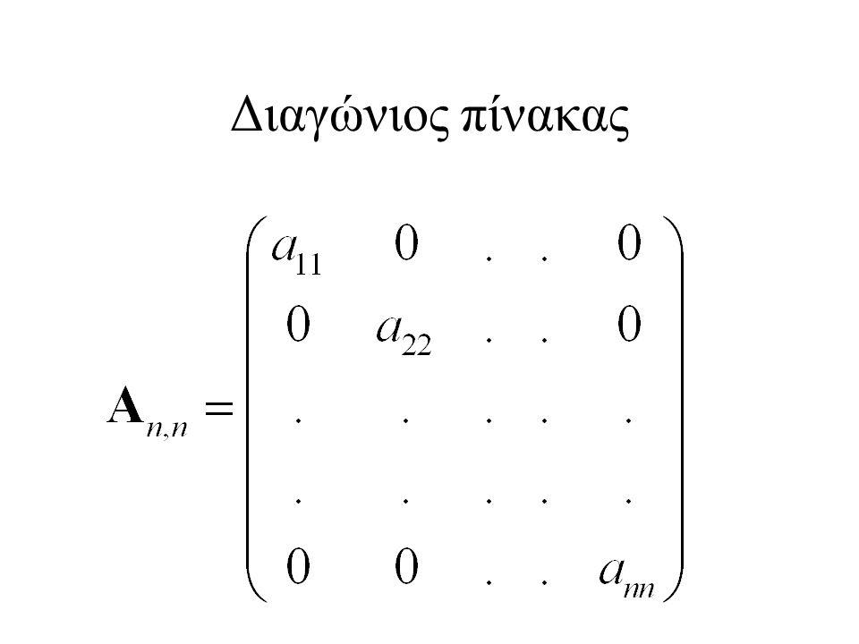 Διαγώνιος πίνακας