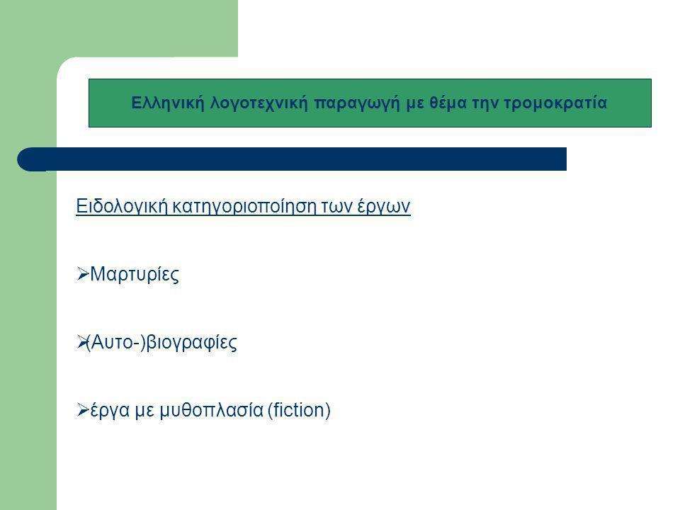 Ελληνική λογοτεχνική παραγωγή με θέμα την τρομοκρατία