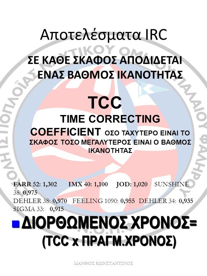 ΔΙΟΡΘΩΜΕΝΟΣ ΧΡΟΝΟΣ= (TCC x ΠΡΑΓΜ.ΧΡΟΝΟΣ)