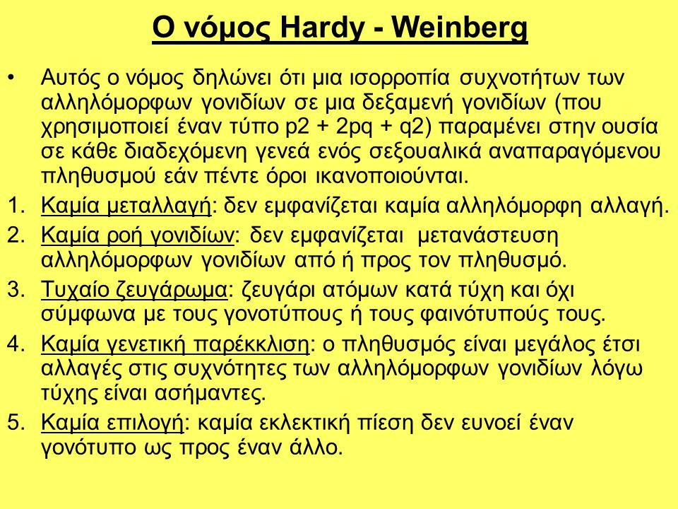 Ο νόμος Hardy - Weinberg