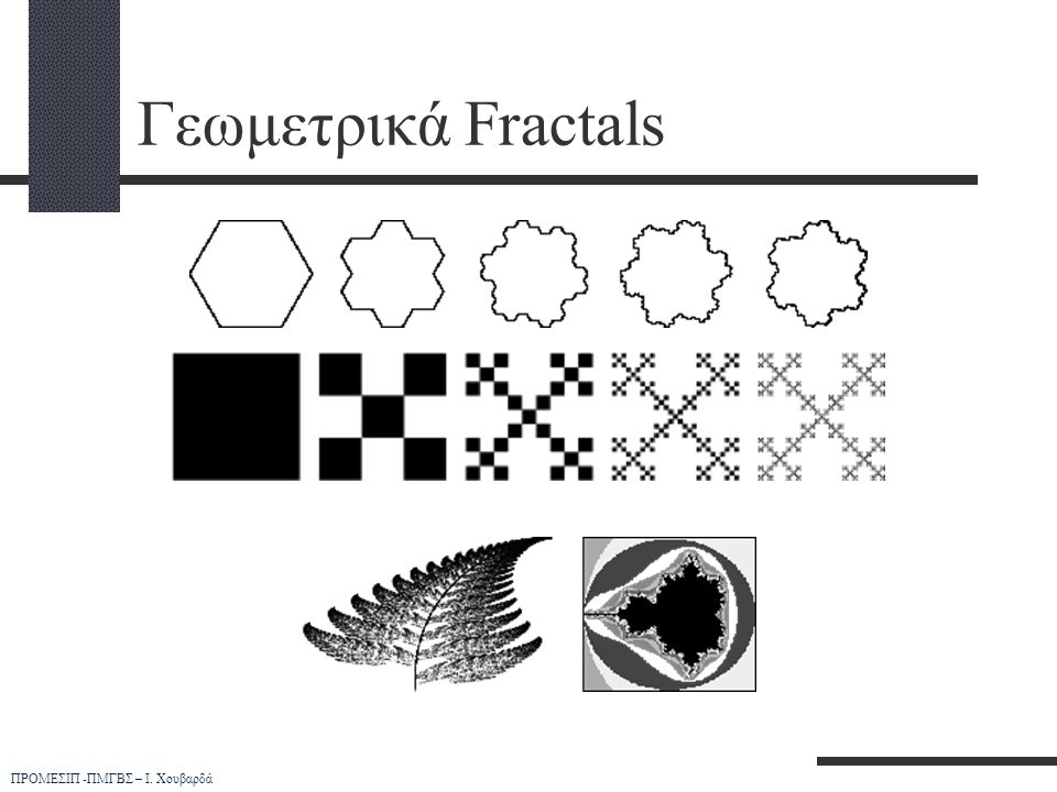 Γεωμετρικά Fractals ΠΡΟΜΕΣΙΠ -ΠΜΓΒΣ – Ι. Χουβαρδά